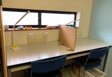 コンパクトな教室です。